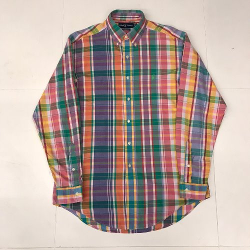 polo multi check shirt (110 size)