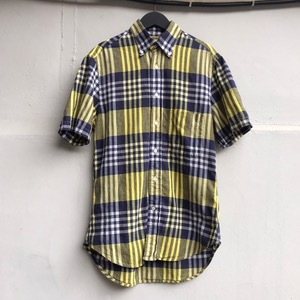 Gitmanbros cotton check half slv bd shirt (95-100)