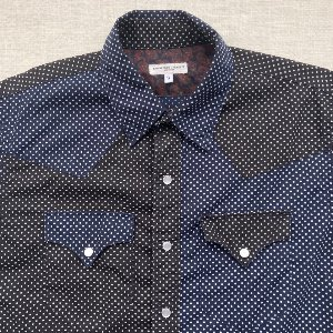 engineered garments polka dot crazy patter western shirt (95-100 isze)