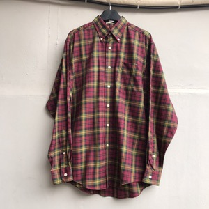 LLbean cotton check bd shirt (100)