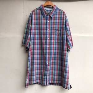 Chaps Ralph Lauren cotton check half slv shirt (110이상)