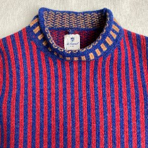 Mc Lauren stripe mock neck sweater (90-95 size)