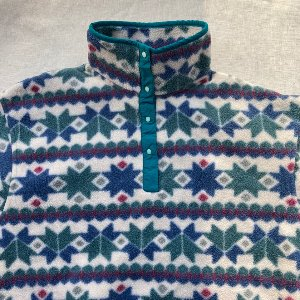 llbean fleece snap pullover (90 size)