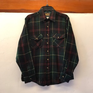 Sears acrylic 2pocket plaid shirt (100)