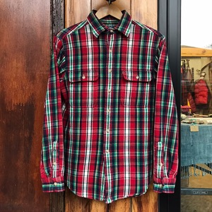 Polo Ralph Lauren heavy cotton tartan plaid shirt (95-100)