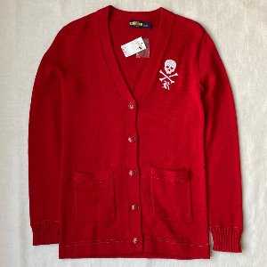 polo rugby cotton letterman cardigan deadstock (95 size)