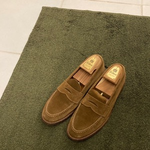 alden 6243 suede unlined penny loafer (us9, 270mm)