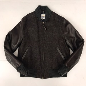 Golden bear harris tweed wool leather slv varsity (100) 새 거