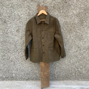 SVC moleskin french work jacket_OLIVE GREEN (M, L, XL)