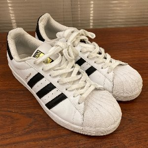 adidas superstar black/white nearly new (us 10, 280mm)