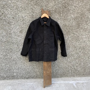 SVC moleskin french work jacket_BLACK (M, L, XL)