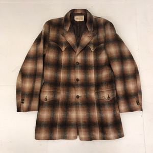 Vtg Herman's wool plaid western ranch jacket (105)