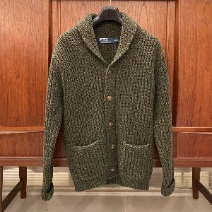 polo heavy wool shawl collar cardigan (100 size)