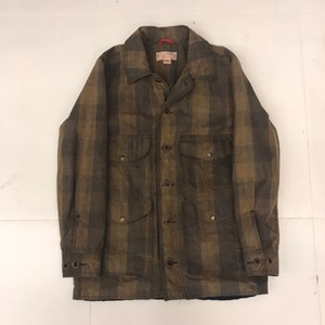 Filson waxed cotton plaid hunting jacket (95)