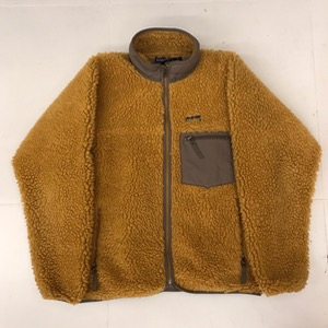PATAGONIA Retro X Cardigan Beech Wood Tequila Gold  Deep Pile Sherpa Fleece 2001(100-105)