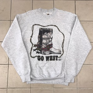Fruit of the loom 50/50 sweatshirt ' go west ' (100-105)