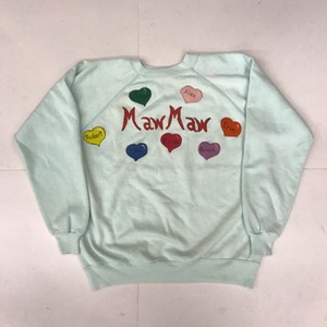 Hanes her way 50/50 sweatshirt ' maw maw ' (95-100 , for women)