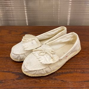 vtg canvas tassel loafer slip on (eu 42)