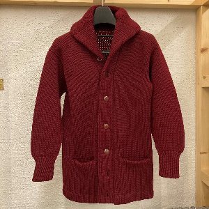 vintage heavy wool shawl collar cardigan (100 size)