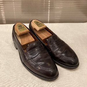 alden new england cordovan penny loafer burgundy (us 7)