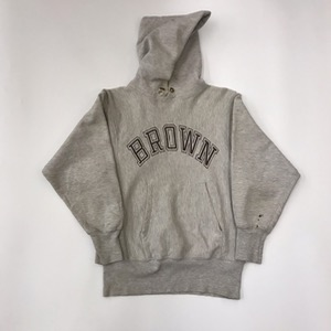 80s champion reverse weave hoodie ' brown college ' (95-100)