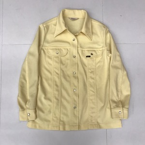 Lee riders cotton/poly pearl snap button wide collar jacket ( for women)