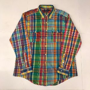 polo multi check military shirt (110 size)
