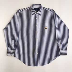 Polo Ralph Lauren cotton stripe embroidered pocket shirt (100)