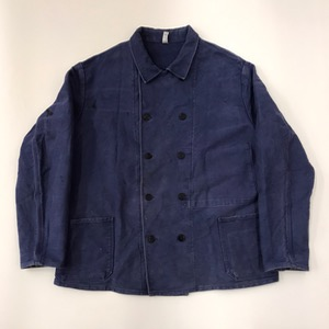Vtg french moleskin double breasted workwear jacket (105-110)
