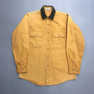 Made in USA duck canvas fabric workwear shirt (100)
